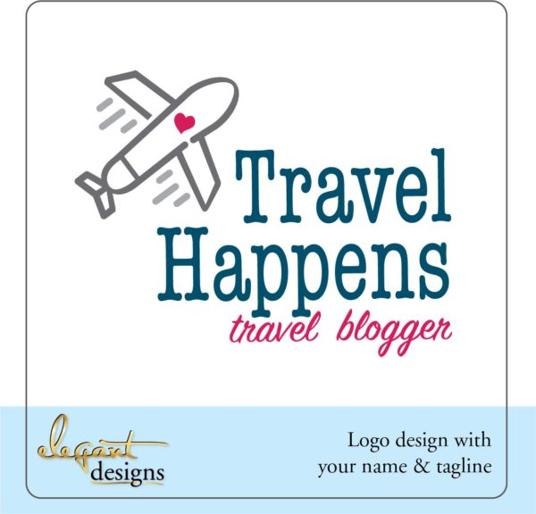 Travel Blogger Pre-made Logo