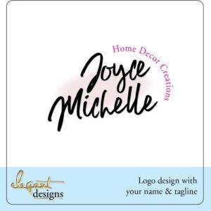 Script Name Logo Template