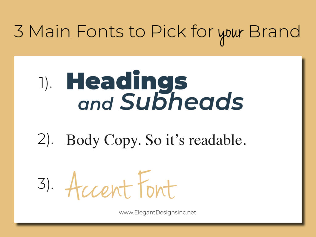 Picking fonts for your brand