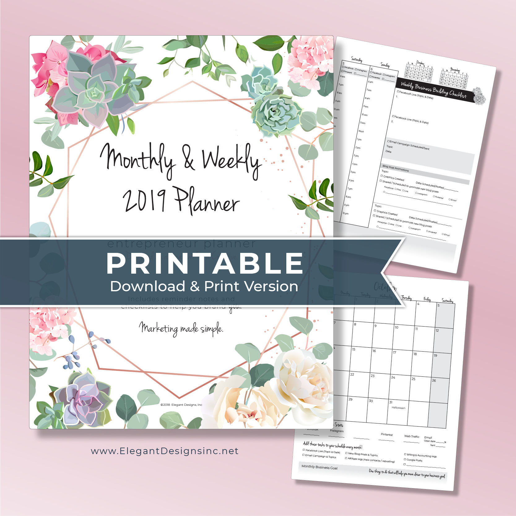 2019 Planner for Creatives PRINTABLE