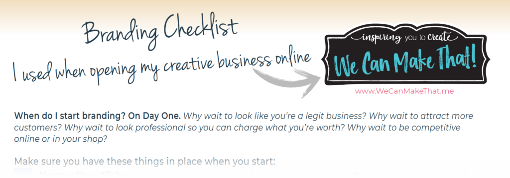 Checklist for starting creative business